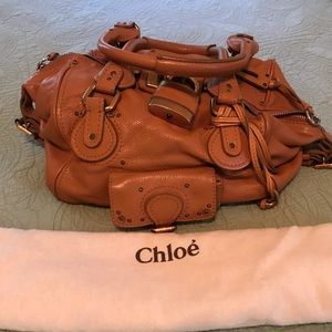 Authentic Chloe Paddington Leather Padlock Satchel
